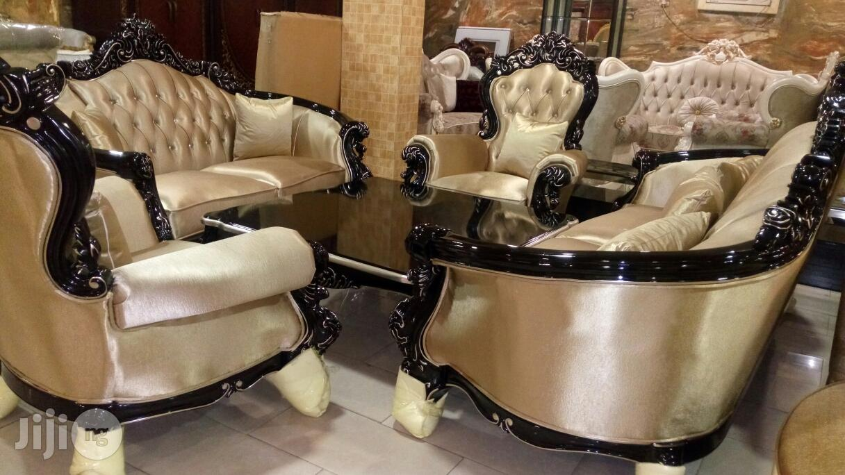 Set of High Quality Executive Royal Fabric Sofa Chair by 7 Seaters