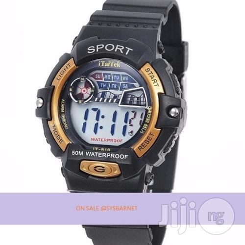 Electronic Watch Digital Silicone Band Wrist - Waterproof