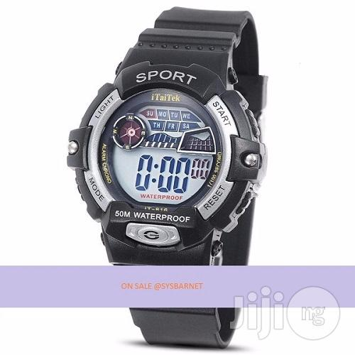 Electronic Watch Digital Silicone Band Wrist - Waterproof | Watches for sale in Epe, Lagos State, Nigeria