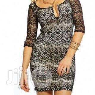 Black Netted Design Sexy Bodycon Clubwear