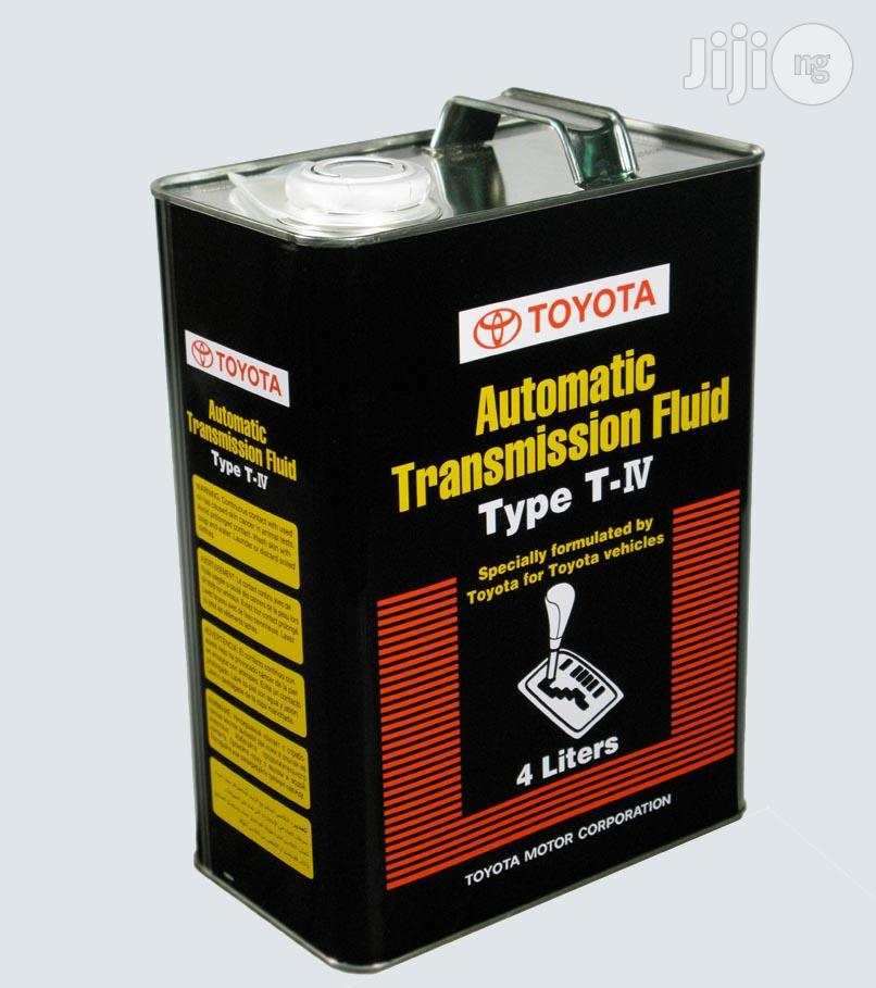 Archive: Toyota T-Iv Automatic Transmission and Power Steering Fluid