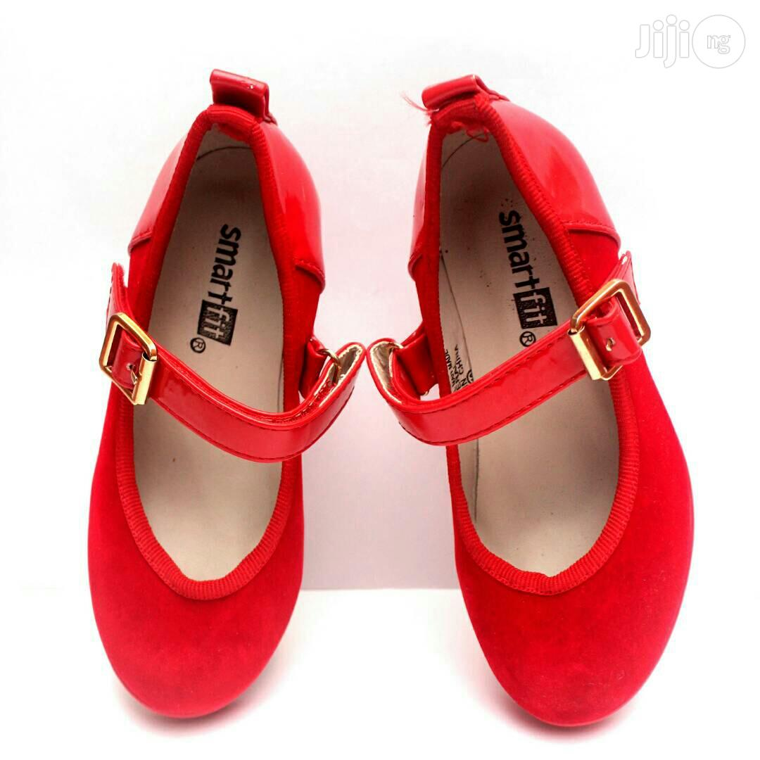 Red Suede Wedge Shoe for Girls | Children's Shoes for sale in Lagos Island (Eko), Lagos State, Nigeria