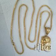Pure ITALY 750 Gold Necklace Franco Design Jesus Piece | Jewelry for sale in Lagos State, Lagos Island