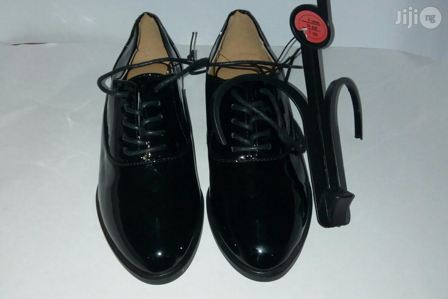 Archive: Atmosphere Black Glossy Leather Shoe for Boys