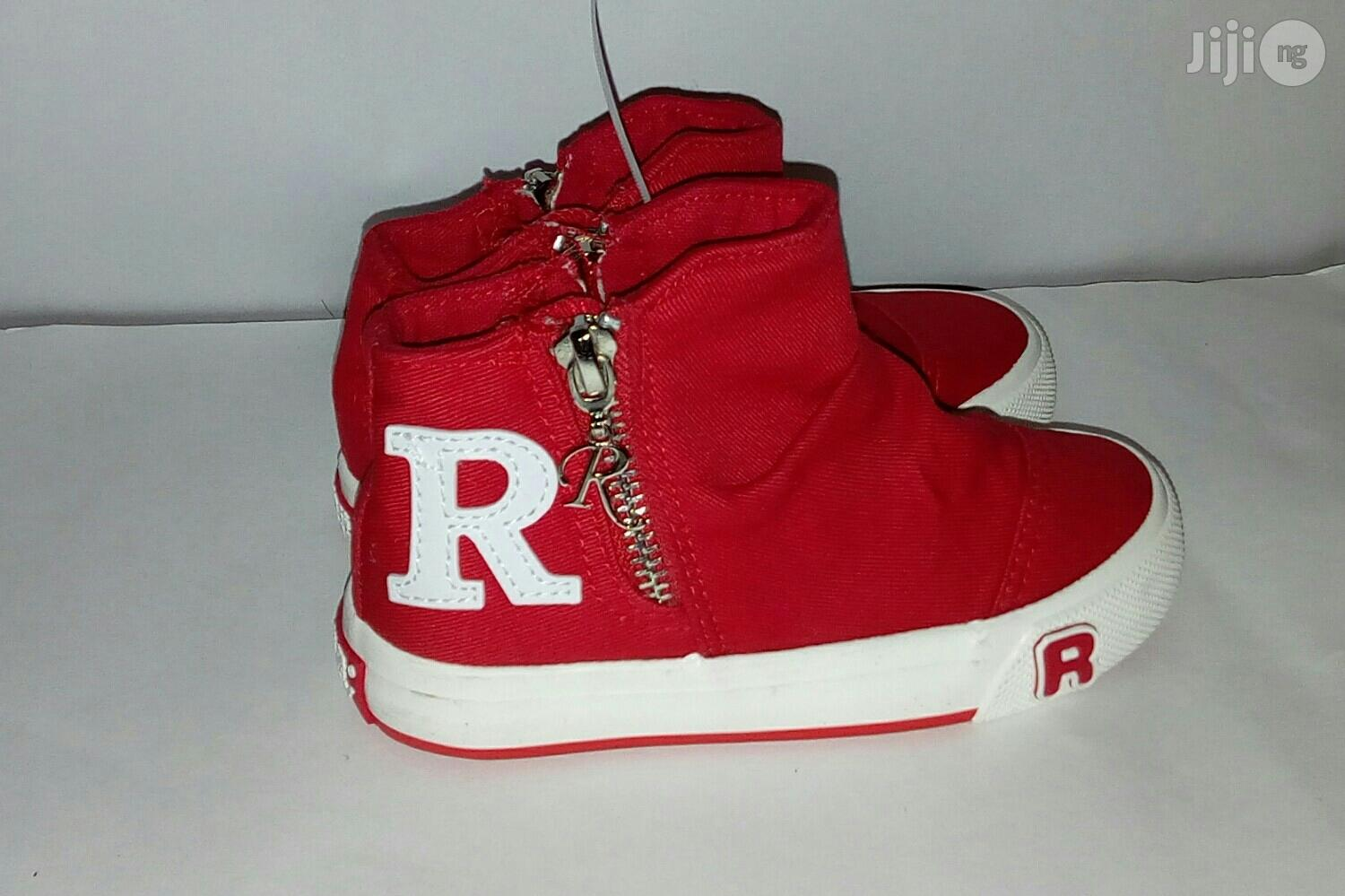 Red High Top Sneakers for Girls