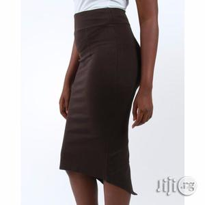 The Zoe- Pencil Skirt With Back Slit - Chocolate Brown   Clothing for sale in Lagos State