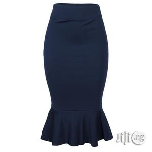 Nma the Roberta - Peplum Midi Skirt - Navy Blue   Clothing for sale in Lagos State