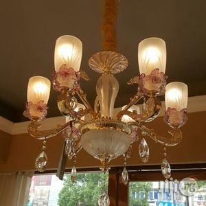 Six In One Celemic Chanderlier Light Gold Italian Made   Home Accessories for sale in Lagos State, Lekki