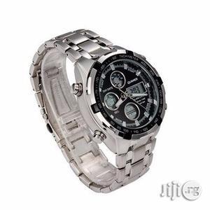 Quamer Men's Stainless Steel Chronograph Men's Wristwatch | Watches for sale in Lagos State, Lagos Island (Eko)
