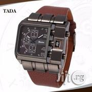 Oulm Men's Leather Strap | Watches for sale in Lagos State, Lagos Island