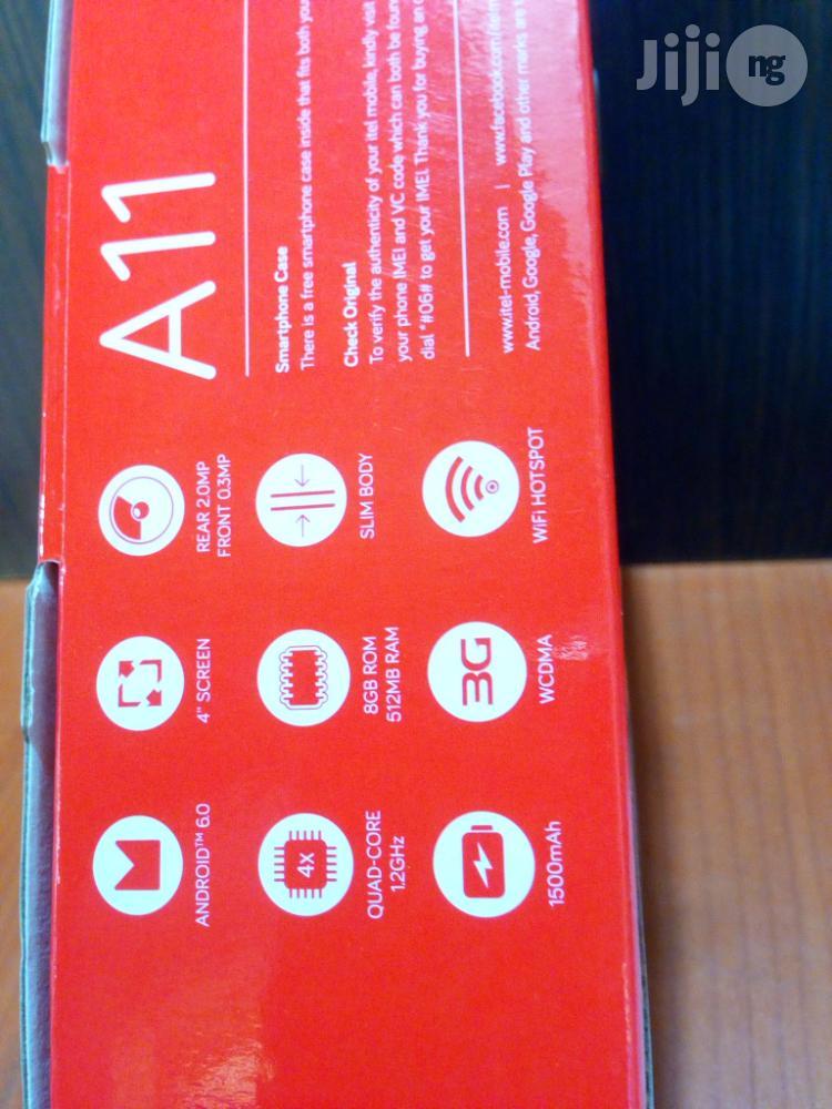 New Itel A14 8 GB Black   Mobile Phones for sale in Ojodu, Lagos State, Nigeria