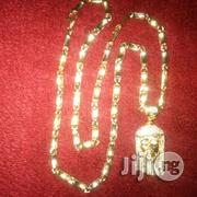 Solid ITALY 750 Tested 18kt Gold Bones Design Wi Jesus Piece | Jewelry for sale in Lagos State, Lagos Island