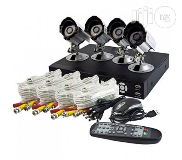 Complete 4 Channels CCTV Kit With Internet Mobile Phone View