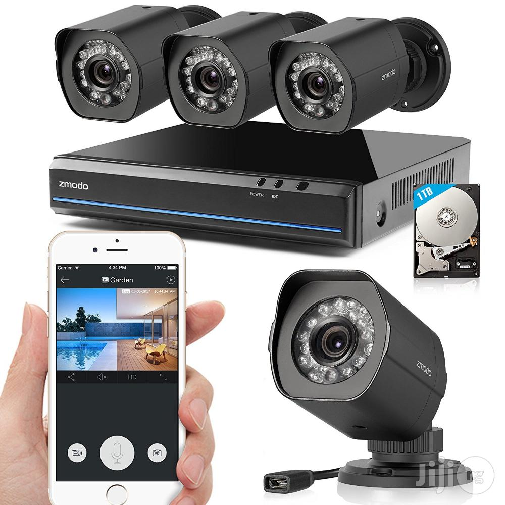 Complete 4 Channels CCTV Kit With Internet Mobile Phone View | Security & Surveillance for sale in Ikeja, Lagos State, Nigeria
