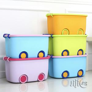 Cleveland Colored Wheeled Plastic Baby Storage   Children's Furniture for sale in Lagos State, Ikeja