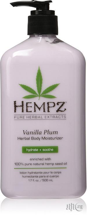 Hempz Herbal Body Moisturizer, Light Purple, Vanilla Plum, 17 Fluid O | Skin Care for sale in Lagos State, Ikeja