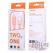 Haweel 2 In 1 High Speed Charging Cable (iPhone&Android)   Accessories for Mobile Phones & Tablets for sale in Lagos State, Ikeja