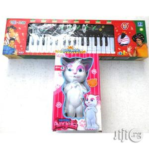 Kids' Talking Angela Toy Piano And Microphone | Toys for sale in Lagos State, Surulere