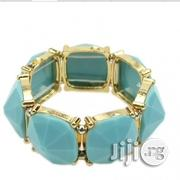 Fashion Blue And Gold Gemstone Bangle | Jewelry for sale in Rivers State, Port-Harcourt