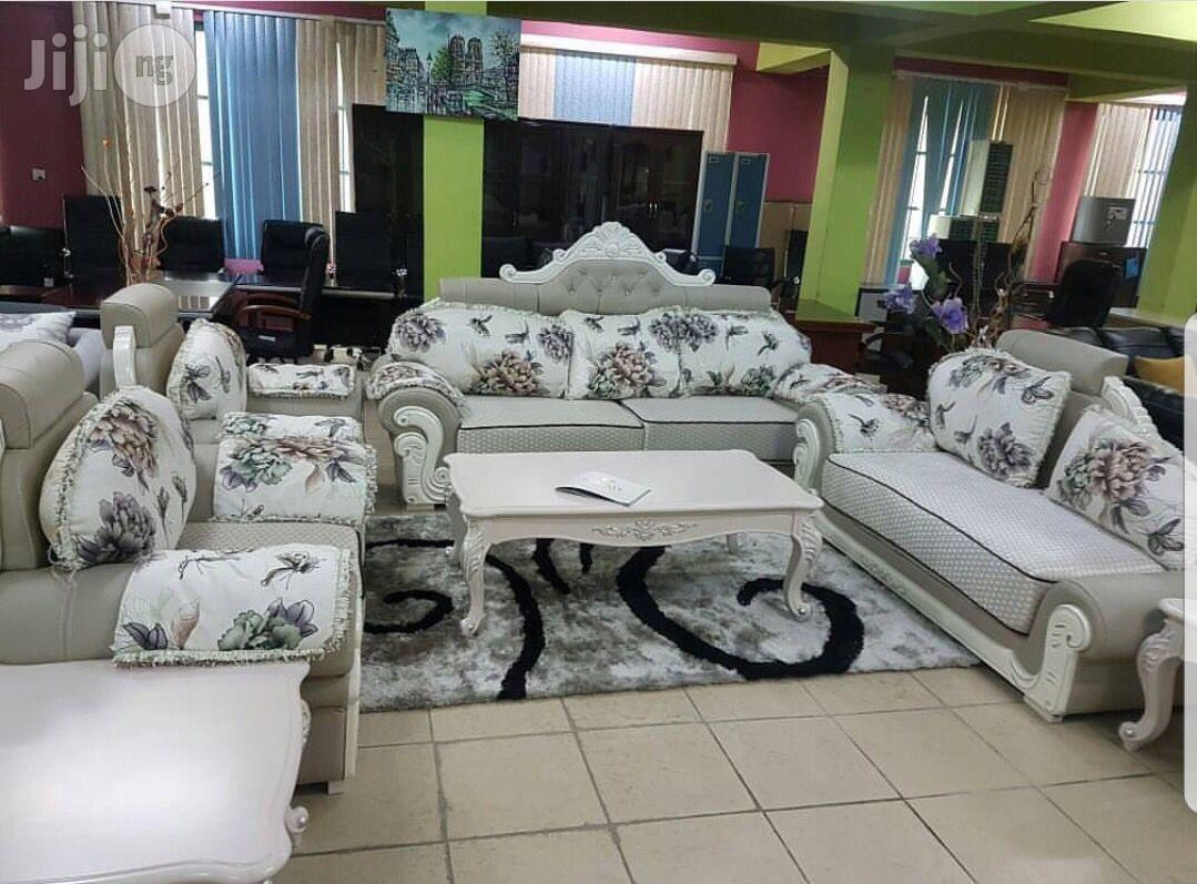 Fabric and Leather Royal Sofa | Furniture for sale in Wuse, Abuja (FCT) State, Nigeria