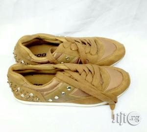 Brown Sneaker Canvas With Studs | Children's Shoes for sale in Lagos State, Lagos Island (Eko)
