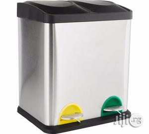 16 Liters Stainless Steel 2-Compartment Pedal Bin | Home Accessories for sale in Lagos State, Apapa