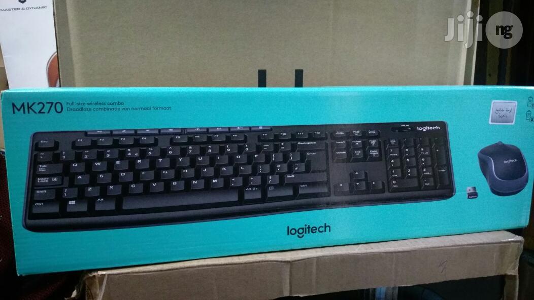 Logitech Keyboard and Mouse Mk270.