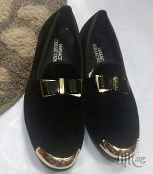 Men High Quality Versace Collection Slide Suede Black Shoe | Shoes for sale in Lagos State, Surulere