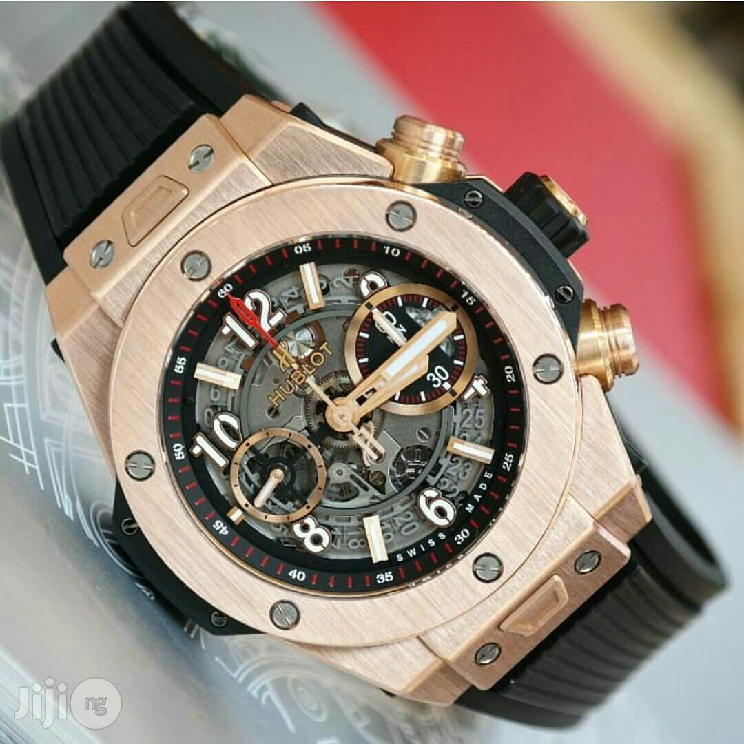 Hublot Ferrari Chronograph Leather Watch