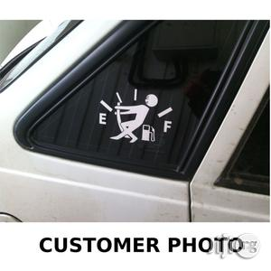 Fuel Gage Empty Car Stickers Funny White (Reference: CR11-W)   Vehicle Parts & Accessories for sale in Lagos State