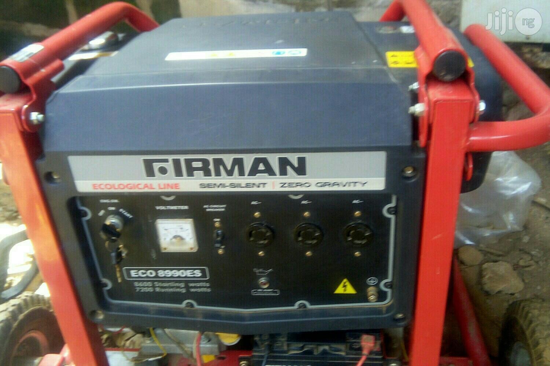 Used Clean 8900ES Ecoline Firman Generator
