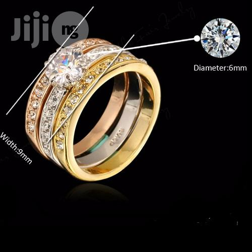 Engagement / Wedding Rings Sets Rose Gold Color   Wedding Wear & Accessories for sale in Ikorodu, Lagos State, Nigeria