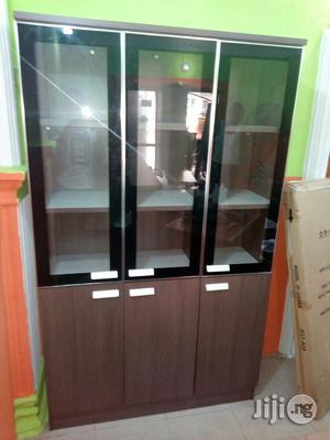 3 Doors Wood and Glass Bookshelf | Doors for sale in Lagos State, Ikoyi