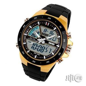 Skmei 1016-G Digital Analog Silicone Strap Sport Swim Watch 50M WATER | Watches for sale in Lagos State, Surulere