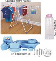 Adjustable Cloth Hanger + Baby Bath Set + Free Water Bottle | Baby & Child Care for sale in Lagos State, Surulere