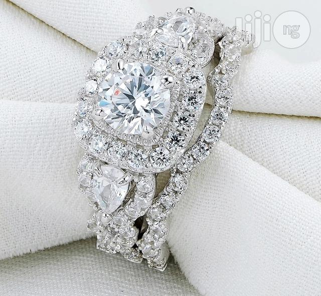 Sprial 925 Sterling Silver Wedding Ring Set