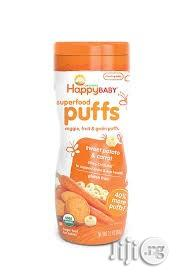 Happy Baby Organic Superior Puffs, Sweet Potato & Carrot | Baby & Child Care for sale in Lagos State, Lekki Phase 2