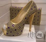 Clerance Sales Italian Platform Stiletto Pump Party Shoes Bag Set | Shoes for sale in Lagos State, Lekki Phase 1