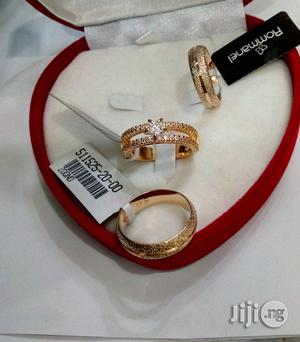 Exotic Brand New Romania Gold Wedding Ring Set 02- All Sizes | Wedding Wear & Accessories for sale in Lagos State
