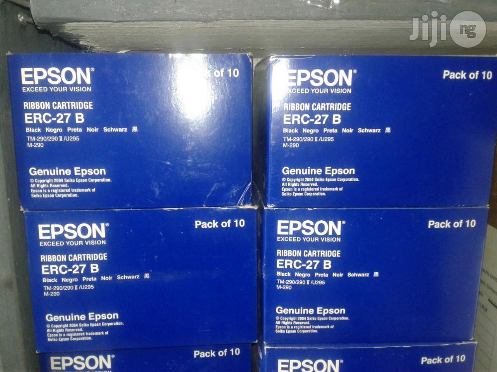 Epson Erc-27Black Ribon Cartridge Pack Of 10