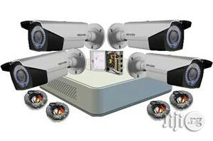 4 Channel DVR + 4 Outdoor Camera + 4ways Power Box+4 Cables -30 Meters | Security & Surveillance for sale in Lagos State, Ikeja