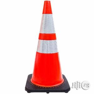 Orange Safety Traffic PVC Cones With Two Reflective Collars   Safetywear & Equipment for sale in Abia State
