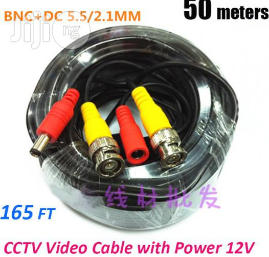 CCTV Camera Cable 50m With BNC And Power Connectors