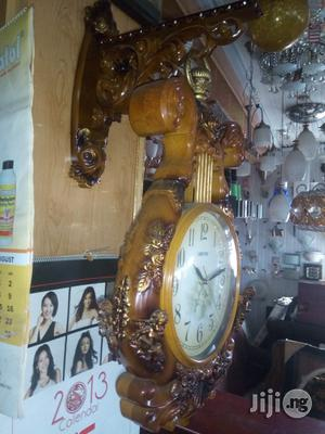 Royal Wall Clock Wooden Made | Home Accessories for sale in Lagos State, Ikeja
