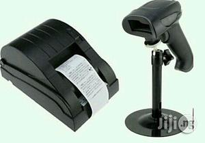 Barcode Scanner+POS Thermal Or Receipt Printer 58mm | Store Equipment for sale in Lagos State, Ikeja