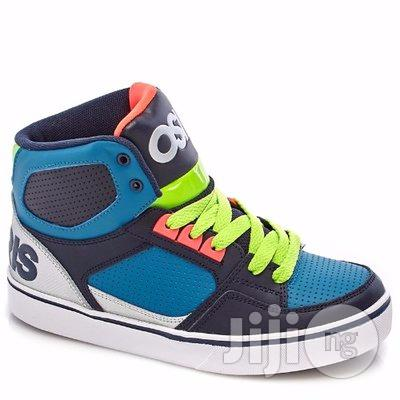 Osiris Leather High Top Sneakers ( Blue