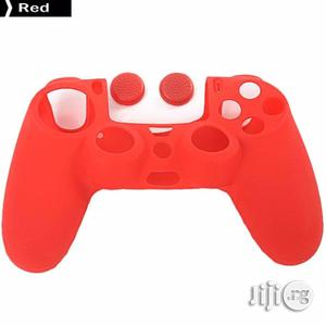 2 In 1 Soft Silicone Rubber Case Cover For Dualshock 4 + 2 Grips   Accessories & Supplies for Electronics for sale in Lagos State