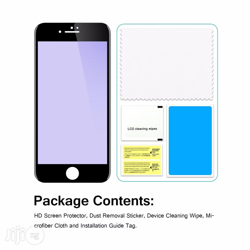 Full Cover Tempered Glass 3D Screen Protector for iPhone 8 - Black | Accessories for Mobile Phones & Tablets for sale in Ikeja, Lagos State, Nigeria