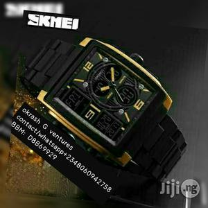 Skmei Analog/Digital Plastic Water Resistant Watch | Watches for sale in Lagos State, Lagos Island (Eko)