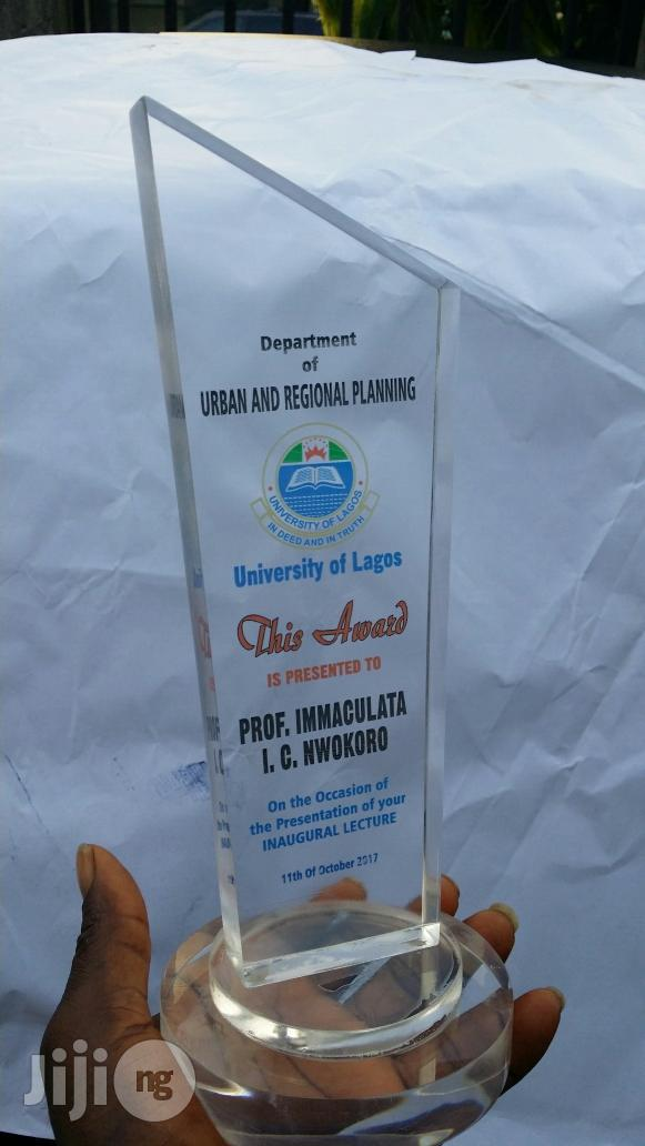 Award Plaque Crystal, Acrylic And Wooden Concepts | Arts & Crafts for sale in Yaba, Lagos State, Nigeria
